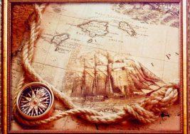 Картина на стекле Карта