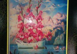Картина на стекле Корабль