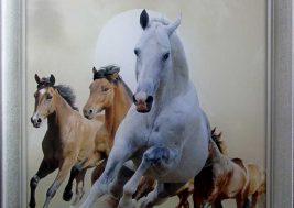 Картина на стекле Лошади
