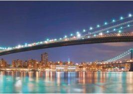 Картина на стекле Нью-Йорк