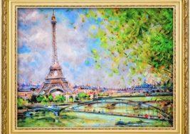 Картина на стекле Париж