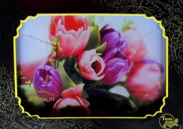 Картина на стекле Тюльпаны