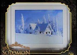 Картина на стекле Зима